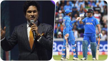 Sachin Tendulkar Heartbroken Over India's CWC 2019 Semi-Final Loss Against New Zealand; Praises MS Dhoni and Ravindra Jadeja
