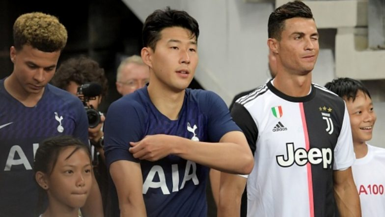 Cristiano Ronaldo Exchanges Jersey with Son Heung Min After Juventus vs Tottenham Hotspurs Match; CR7 Displays Utmost Sportsmanship With His Opponent (Watch Video)