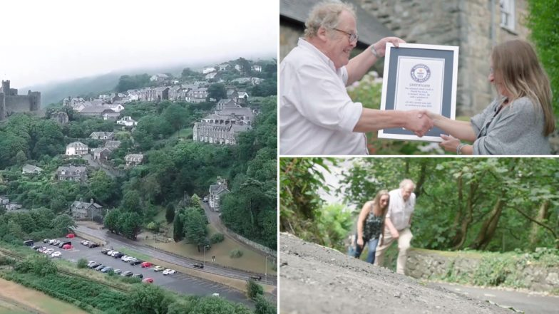 Harlech's Ffordd Pen Llech Is the Steepest Street in the World, Watch Video of New Guinness Record Holder Street in North Wales