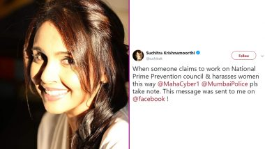 Suchitra Krishnamoorthi Gets Lewd Messages on FB from Man Claiming to Work for National Crime Prevention Council, Singer Tweets Her Disbelief