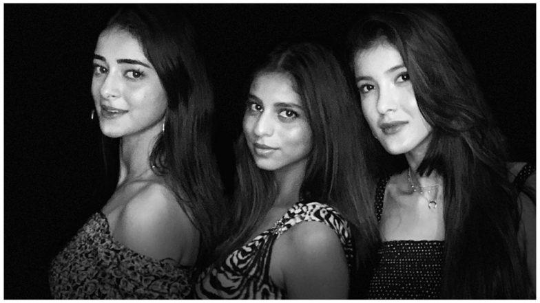 'Charlie's Angels' Suhana Khan, Ananya Panday and Shanaya Kapoor Get Pics Clicked by Shah Rukh Khan