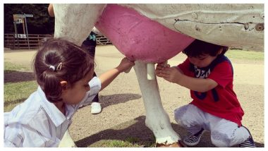 Taimur and Kainaat Milking a Cow in This Picture Will Make You LOL