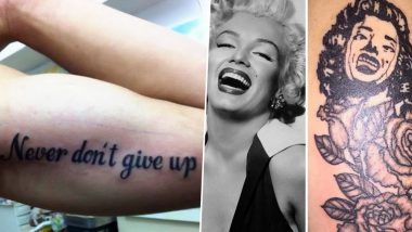 National Tattoo Day 2019: Funniest Tattoo Fails That Will Make You Go  'Why God Why!'