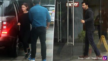 Karan Johar's Students Varun Dhawan and Alia Bhatt Spotted Outside Dharma Office (View Pics)