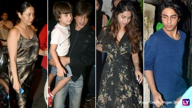 Shah Rukh Khan - Gauri Khan Watch The Lion King With Kids Aryan, Suhana, AbRam - View Pics