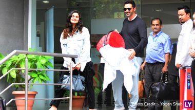 Arjun Rampal-Gabriella Demetriades Look Cheerful As They Take Their Baby Boy Home- View Pics
