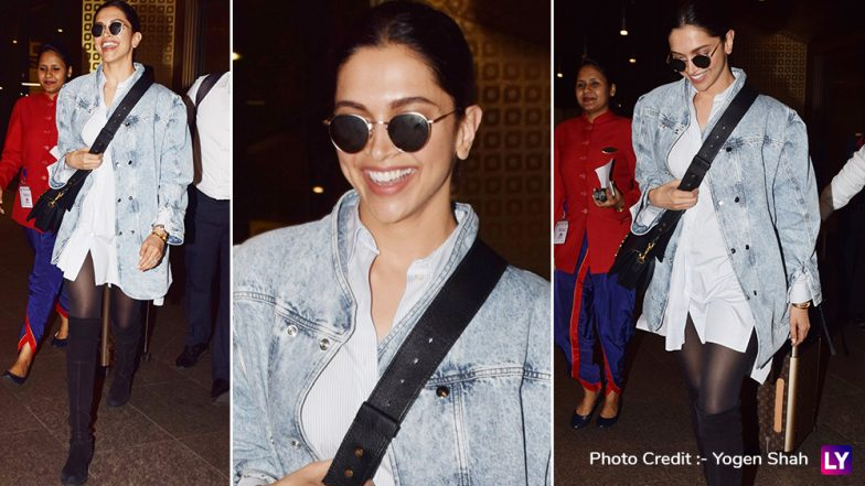 Deepika Padukone's Latest Airport Look is Sure to Leave You Spellbound, the Actress Stuns With Her Denim Jacket and Dazzling Smile - View Pics!