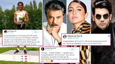 Anushka Sharma, Anil Kapoor, Rajkummar Rao Praise Hima Das for Winning 5 Gold Medals in 19 Days! Read Tweets