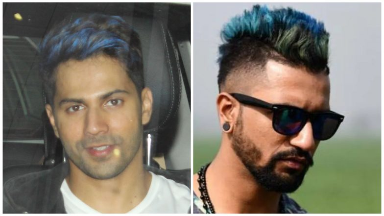 Varun Dhawan or Vicky Kaushal: Whose Blue-Haired Look Did You Like Better? Vote Now!