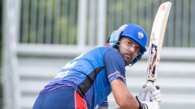 Yuvraj Singh Smashes Pakistan Bowler Shadab Khan for a Flat Six During Global T20 Canada Match, Watch Video