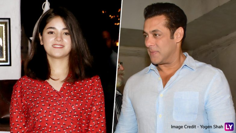 Bigg Boss 13: Did Zaira Wasim Reject Rs 1.2 Crore Offer to be a Part of Salman Khan's Show?