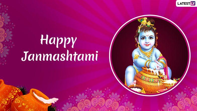 Janmashtami 2019 Greetings: WhatsApp Stickers, Lord Krishna Photos, SMS, GIF Image Messages to Wish Happy Gokulashtami
