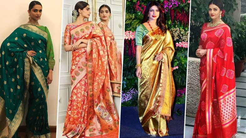 National Handloom Day 2019: Deepika Padukone, Aishwarya Rai Bachchan and Sonam Kapoor Show you How to Nail the Traditional Weaves in Style