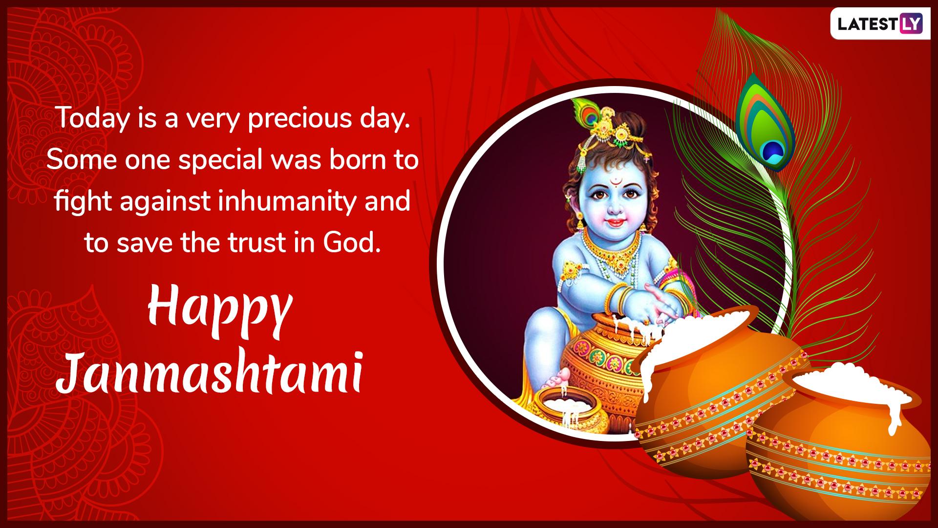 Happy Krishna Janmashtami 2019 Greetings Wishes Whatsapp