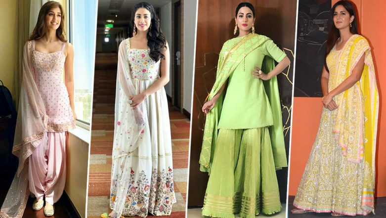 Janmashtami 2019: From Katrina Kaif, Disha Patani to Hina Khan - Borrow Some Style Cues from our Favourite Stunners for this Big Festival (View Pics)