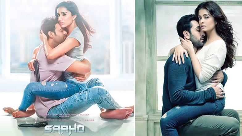 Saaho: Prabhas and Shraddha Kapoor's New Poster is Giving Us a Deja Vu of Ranbir Kapoor and Aishwarya Rai Bachchan's Ae Dil Hai Mushkil Photoshoot - See Pic