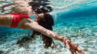 Bikini-Clad Erica Fernandes Turns Into a Beautiful Mermaid as She Enjoys the Exotic Beaches of Maldives – View Pics