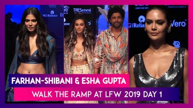 LFW 2019: From Farhan-Shibani To Esha Gupta Take A Look At Stars Who Walked The Ramp On Day 1