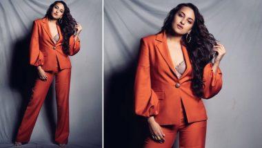 Yo or Hell No! Sonakshi Sinha Picks a Rust Colour Pantsuit by Osman Yousefzada