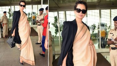 Kangana Ranaut Flaunts Her Rs 600 Saree, Twitterati Call Her Hypocrite for Picking an Expensive Prada Bag with the Same