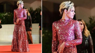 Yo or Hell No! Kristen Stewart in a Red Chanel Evening Gown at Venice Film Festival 2019