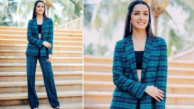 Yo or Hell No: Shraddha Kapoor Picks a Checkered Pantsuit by Sézane for Saaho Promotions