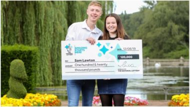 Lucky Teenage Father Wins £120,000 With His First Ever Lottery Ticket! (Watch Video)