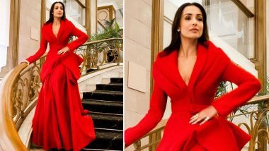 Yo or Hell No! Malaika Arora Picks a Candy Red Gown by Benchellal for IFFM 2019