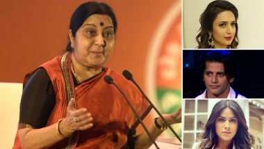 Sushma Swaraj Passes Away at 67; Divyanka Tripathi, Karanvir Bohra, Nia Sharma and Other TV Celebs Offer Their Condolences (Read Tweets)