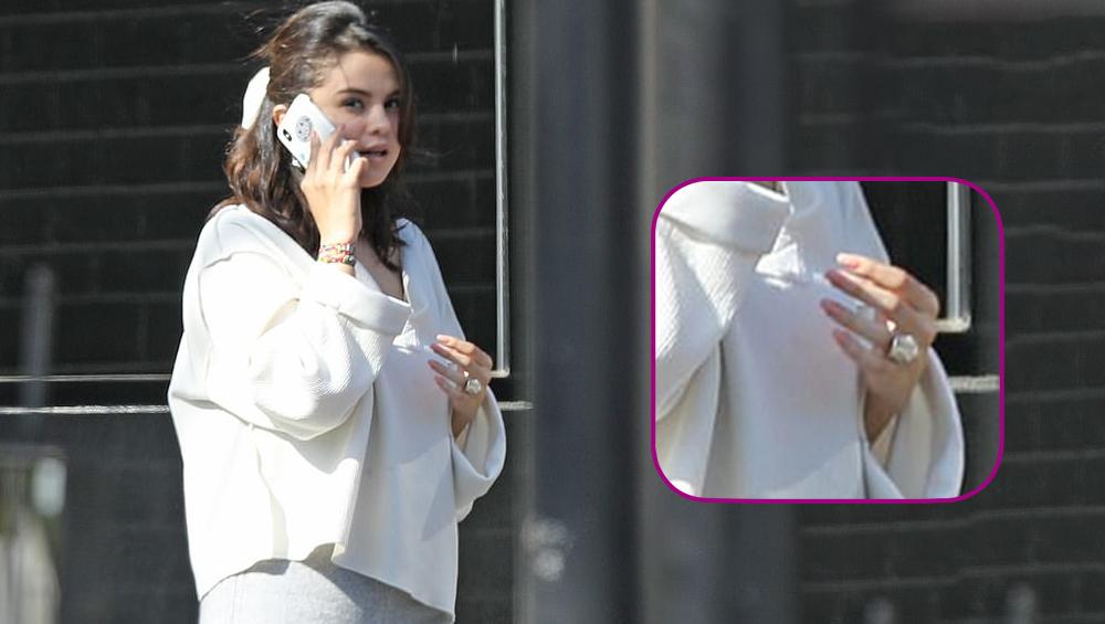 Selena Gomez Flaunts a Huge Ring on her Wedding Finger just