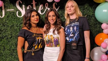 Priyanka Chopra, Sophie Turner and Danielle Jonas Pose for a Perfect Picture at the Jonas Brothers' Miami Concert But their T-shirts Grab all Our Attention - View Pic