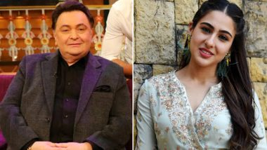 Rishi Kapoor Can't Stop Praising Sara Ali Khan, 'You Set Examples How Celebrities Should Behave' Tweets the Mulk Actor