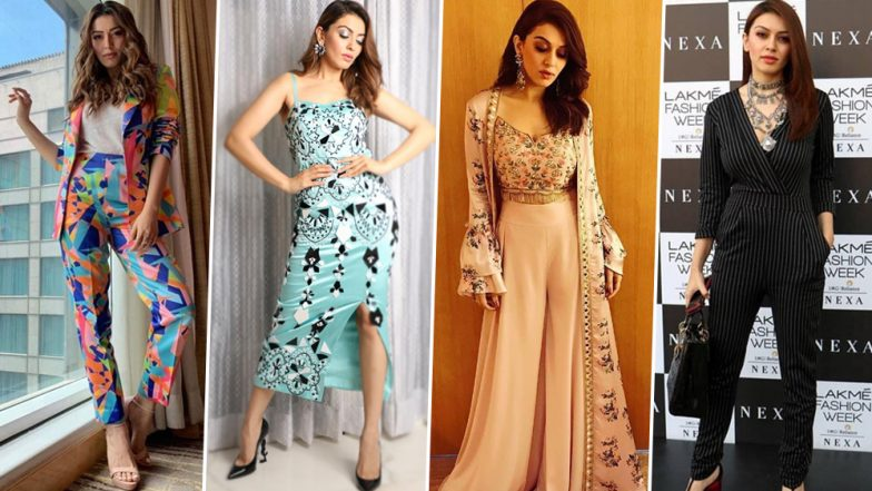 Hansika Motwani Birthday Special: She Loves to Grab Eyeballs with her Structured and Layered Outfits (View Pics)