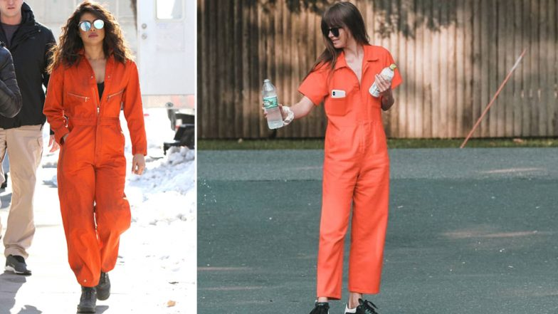 Priyanka Chopra or Dakota Johnson - Who Nailed this Orange Jumpsuit Better? Vote Now
