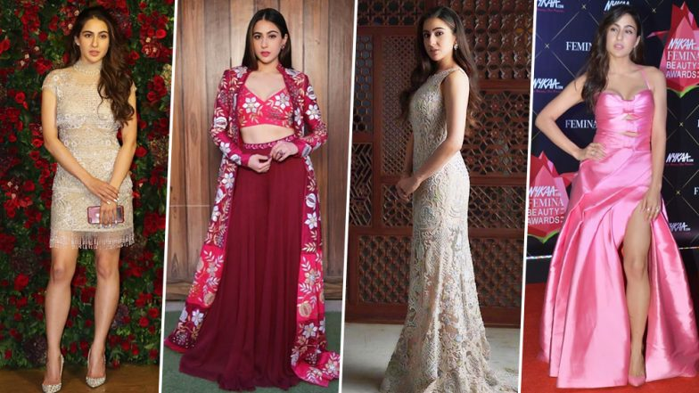 Sara Ali Khan Birthday Special: A Fashionista Getting Ready to Take Bollywood by Storm (View Pics)