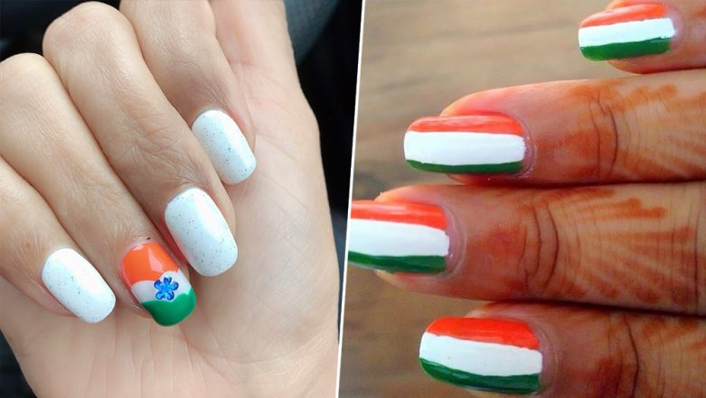 Independence Day 2019: Latest Tricolour Nail Art Design Inspirations to Celebrate the 73rd Anniversary of India's Freedom in Style