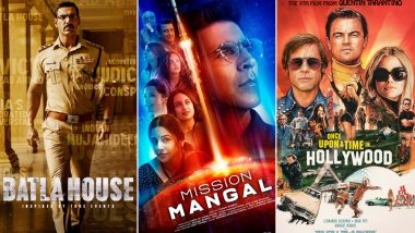 Movies This Week: John Abraham's Batla House, Akshay Kumar's Mission Mangal, Brad Pitt, Leonardo DiCaprio's Once Upon a Time in Hollywood – Independence Day Sees 3 Movies Based on True Events