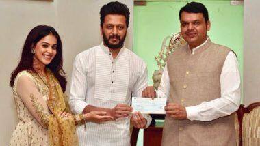 Riteish Deshmukh and Genelia Donate Rs 25 Lakhs for CM Devendra Fadnavis Maharashtra Flood Relief Initiative