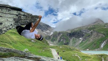 Ishaan Khatter Turns to an Unmasked Spider-Man with This Chilling Stunt on the Top of the Mountain Cliff