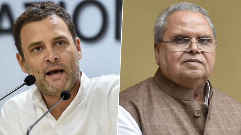 Rahul Gandhi Responds to Governor Satya Pal Malik: 'Accept Invite to Visit J&K Without Any Conditions, When Can I Come?'