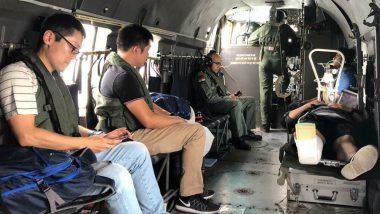Indian Navy Evacuates Injured Japanese Sailor On-Board Warship 'JMSDF Sazanami' 235 Km off Mumbai Coast