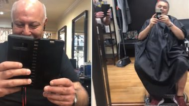Rishi Kapoor Goes for a Haircut at a Salon in New York and Ends Up Getting This Surprise from His Russian Fan (Watch Video)