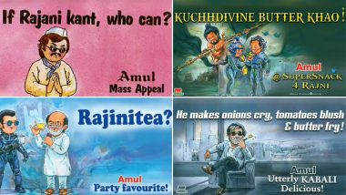 Rajinikanth Celebrates 44 Years in Indian Cinema: Amul Celebrates it With a Video Featuring All the Thalaivar Special Topicals