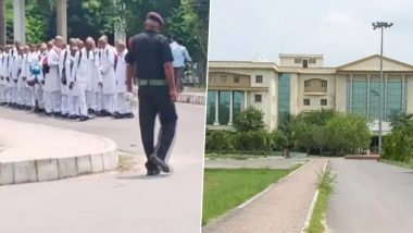 Ragging in UP Medical College: Nearly 150 First-Year MBBS Students Forced to Shave Heads, Salute Seniors As Mark of Respect; Watch Video