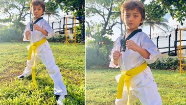 Shah Rukh Khan Shares an Adorable Picture of AbRam as he is all Set to Follow Aryan and Suhana Khan's Footsteps in Learning Taekwondo