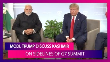 PM Modi At G7 Summit: Kashmir A Bilateral Issue; US President Donald Trump Concurs