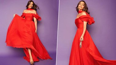 Yo or Hell No: Sonam Kapoor in an Off-Shoulder Maxi Dress by Georges Hobeika for The Zoya Factor Trailer Launch