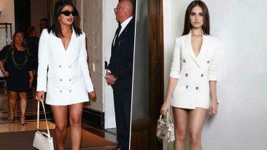 Priyanka Chopra or Tara Sutaria - Who Nailed this White Blazer Dress Better?