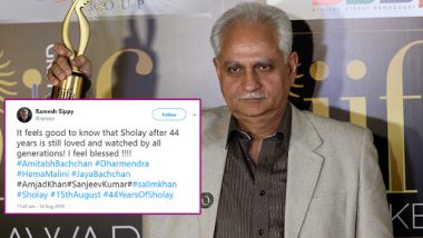 44 Years of Sholay: Ramesh Sippy Is Happy As His Directorial Is Still Loved and Watched by All Generations