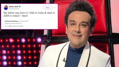 Independence Day 2019: Adnan Sami Has an Epic Reply to a Pakistani Troll Who Questioned His Nationality